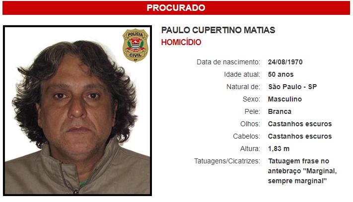 Assassino do ator Rafael Miguel, Paulo Cupertino é preso no Paraná