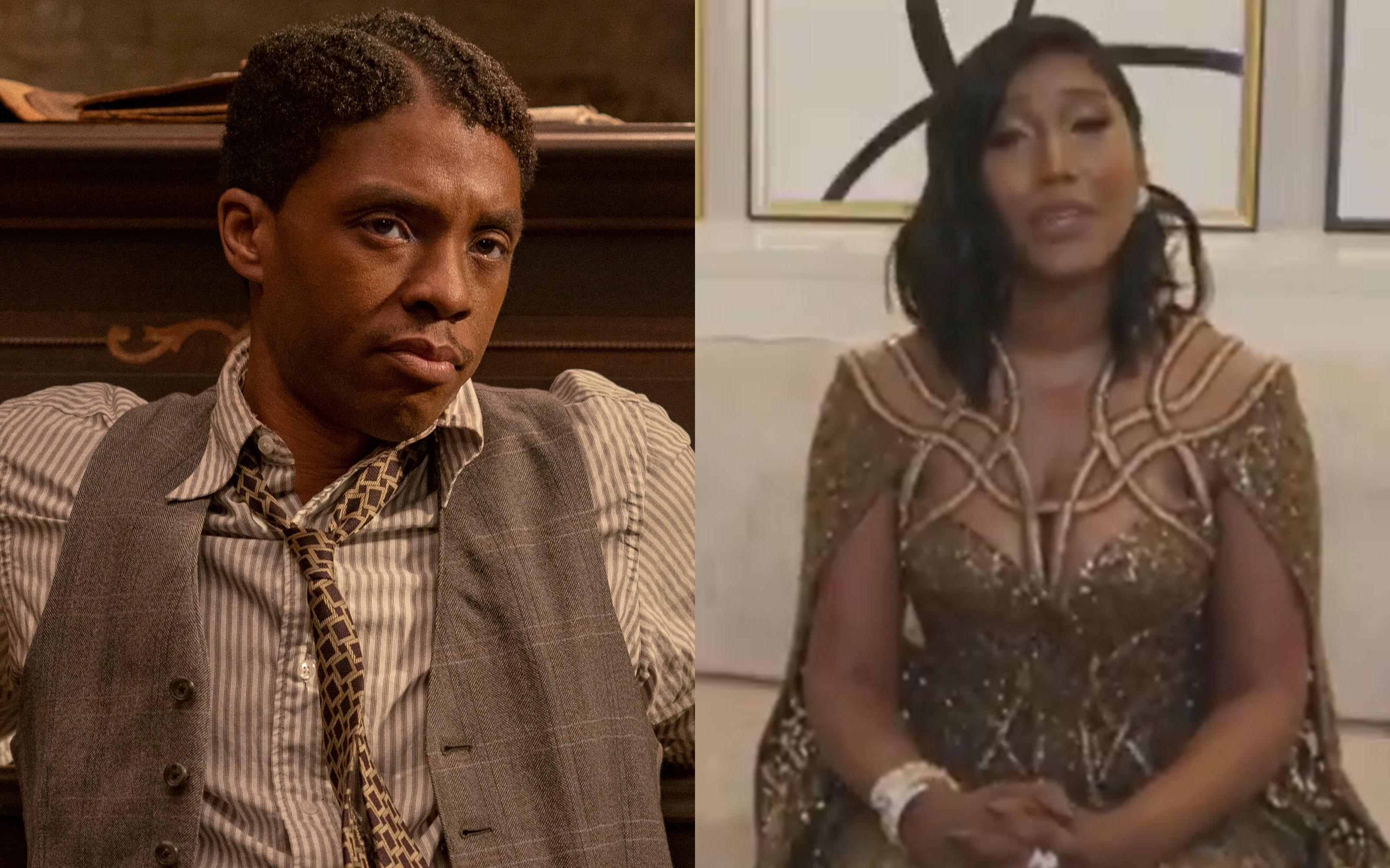 Chadwick Boseman ganha Globo de Ouro póstumo e viúva se emociona